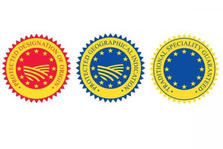 EU protected food name logos